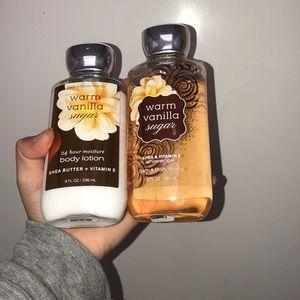 Bath and body works vanilla warm sugar set